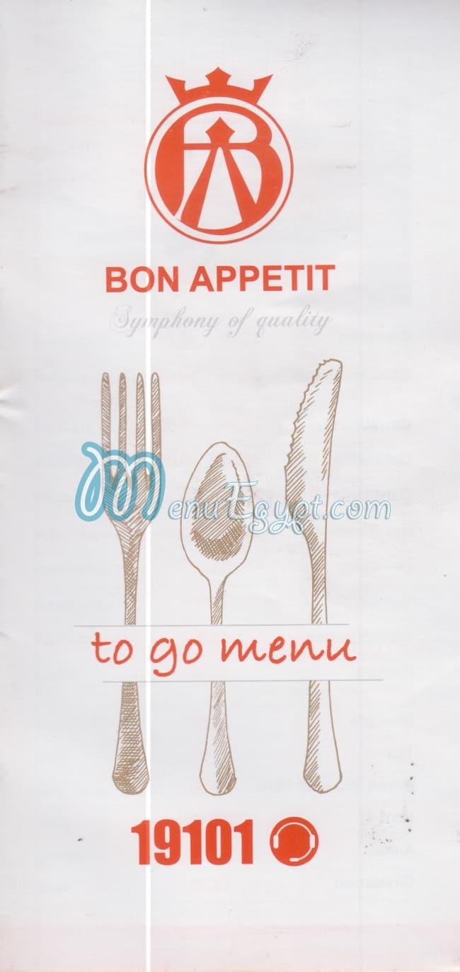 Bon appetit menu