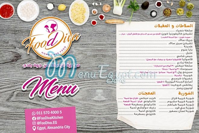 FoodDiva menu