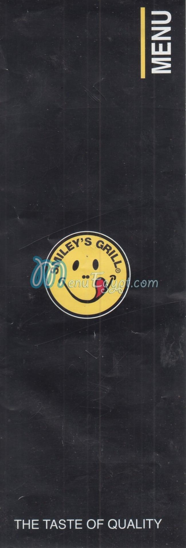 Smileys Grill menu